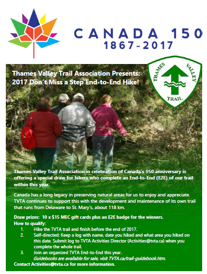 Upcoming Events with MEC Hiking London TVTA Thames Valley